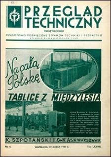 Przegląd Techniczny 1939 nr 6