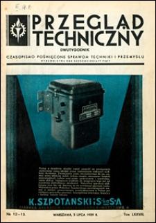 Przegląd Techniczny 1939 nr 12-13