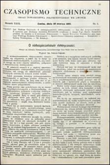 Czasopismo Techniczne 1911 nr 5