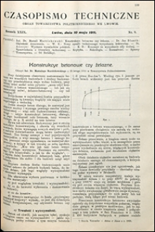 Czasopismo Techniczne 1911 nr 9