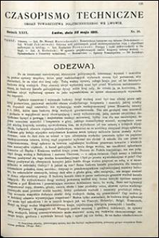 Czasopismo Techniczne 1911 nr 10