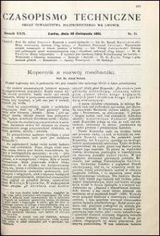 Czasopismo Techniczne 1911 nr 21
