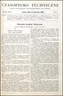 Czasopismo Techniczne 1908 nr 1