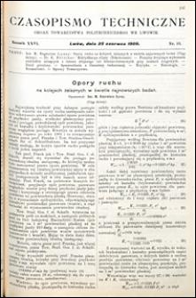 Czasopismo Techniczne 1908 nr 12