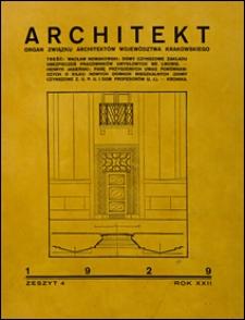 Architekt 1929 nr 4