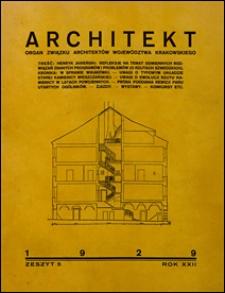 Architekt 1929 nr 5