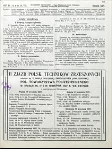 Czasopismo Techniczne 1927 nr 14