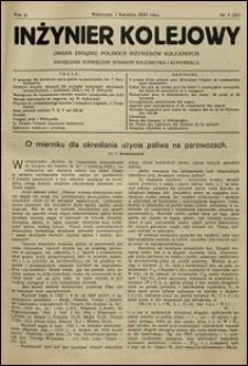 Inżynier Kolejowy 1926 nr 4