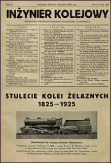 Inżynier Kolejowy 1926 nr 8-9