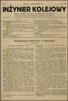 Inżynier Kolejowy 1925 nr 11