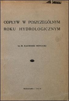 Odpływ w poszczególnym roku hydrologicznym