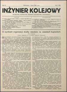 Inżynier Kolejowy 1927 nr 7
