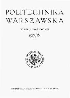 Politechnika Warszawska w roku akademickim 1917/1918