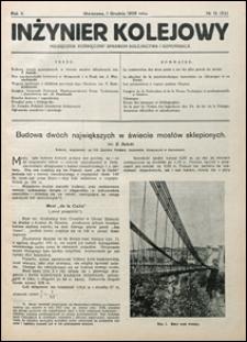 Inżynier Kolejowy 1928 nr 12