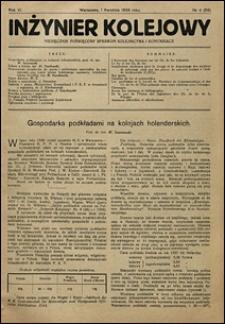 Inżynier Kolejowy 1929 nr 4