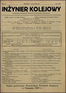 Inżynier Kolejowy 1929 nr 7