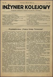 Inżynier Kolejowy 1931 nr 1
