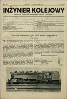 Inżynier Kolejowy 1931 nr 11