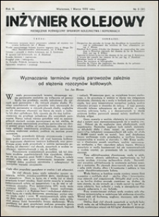 Inżynier Kolejowy 1932 nr 3