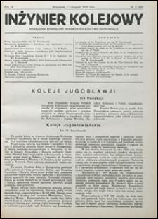 Inżynier Kolejowy 1932 nr 11