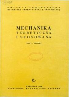 Mechanika Teoretyczna i Stosowana 1963 nr 1
