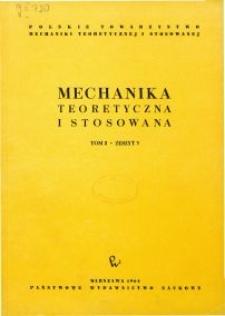 Mechanika Teoretyczna i Stosowana 1964 nr 3