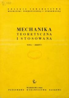 Mechanika Teoretyczna i Stosowana 1966 nr 3