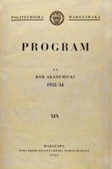 Program na rok akademicki 1933/34