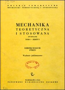 Mechanika Teoretyczna i Stosowana 1968 nr 3