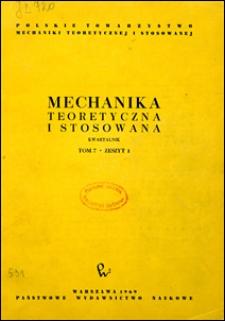 Mechanika Teoretyczna i Stosowana 1969 nr 1