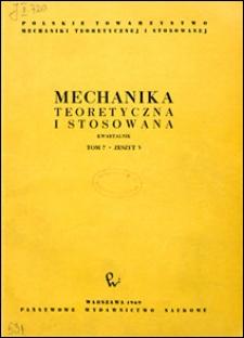 Mechanika Teoretyczna i Stosowana 1969 nr 3