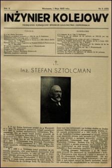 Inżynier Kolejowy 1933 nr 5