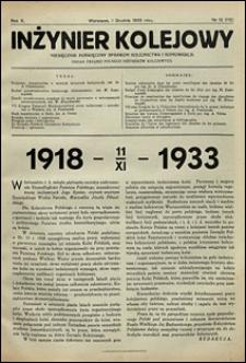 Inżynier Kolejowy 1933 nr 12