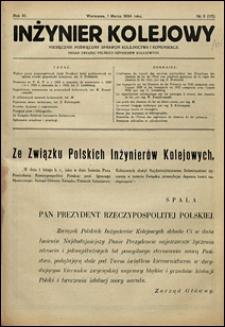 Inżynier Kolejowy 1934 nr 3