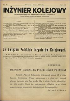Inżynier Kolejowy 1934 nr 4