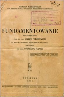 Fundamentowanie wg wykładów prof. dr inż. Józefa Fedorowicza