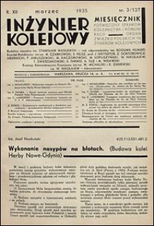 Inżynier Kolejowy 1935 nr 3