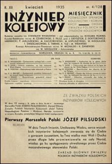 Inżynier Kolejowy 1935 nr 4