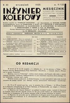 Inżynier Kolejowy 1935 nr 9