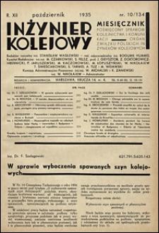 Inżynier Kolejowy 1935 nr 10