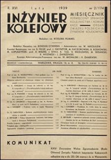 Inżynier Kolejowy 1939 nr 2