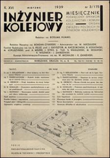 Inżynier Kolejowy 1939 nr 3
