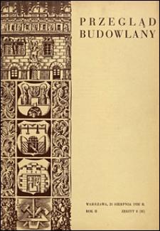 Przegląd Budowlany 1930 nr 8