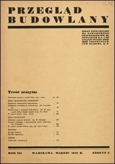Przegląd Budowlany 1931 nr 3