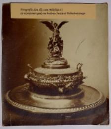 Fotografia daru dla cara Mikołaja II za wyrażenie zgody na budowę Instytutu Politechnicznego