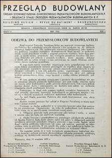 Przegląd Budowlany 1933 nr 9