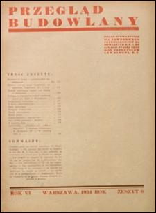 Przegląd Budowlany 1934 nr 6