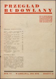 Przegląd Budowlany 1934 nr 10