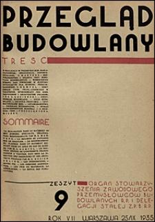 Przegląd Budowlany 1935 nr 9
