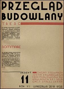 Przegląd Budowlany 1935 nr 11